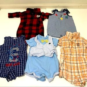 Lot of 5: Baby Rompers One Piece Outfits 0-6Mo